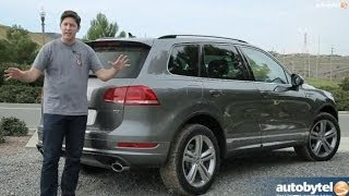 getlinkyoutube.com-2014 Volkswagen Touareg TDI R-Line Test Drive & Diesel SUV Video Review