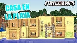 getlinkyoutube.com-MINECRAFT: CASA EN LA PLAYA | MAPA SUSCRIPTOR