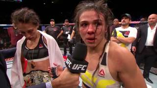 The Ultimate Fighter Finale: Joanna Jedrzejczyk and Claudia Gadelha Octagon Interview