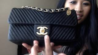 getlinkyoutube.com-Chanel Cruise 2015-2016 Chevron Flap Bag Unboxing, Review and What Fits Inside