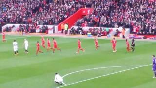 Emre's goal celebration vs Watford at Anfield 06/11/2016