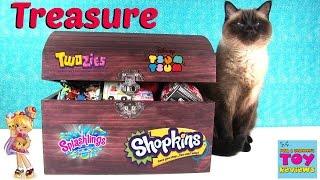 getlinkyoutube.com-Simon's Blind Bag Treasure Chest #31 Splashlings Shopkins Disney MLP Toy | PSToyReviews