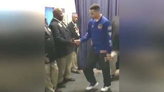 Stephen Curry Pre-Game Ritual Dance: BBQ and Foot Massage