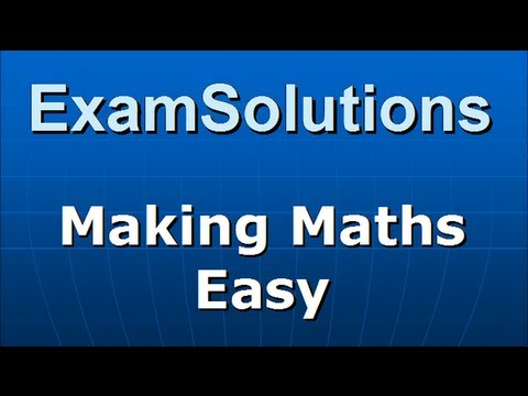 A-Level Edexcel C3 January 2010 Q3(a) : ExamSolutions
