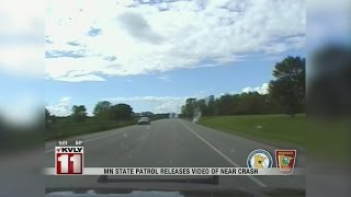 Minnesota State Patrol release dashcam video of a near head-on crash in Detroit Lakes
