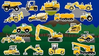 getlinkyoutube.com-Learning Construction Vehicles - Trucks and Diggers - Children's Educational Flash Card Videos