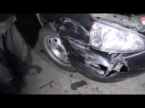 ЛАДА КАЛИНА обзор повреждений после ДТП видео№2 1 копия