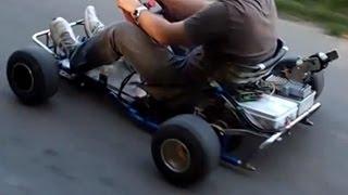 getlinkyoutube.com-5300w RC Brushless  motor on a Go Kart 42km/h