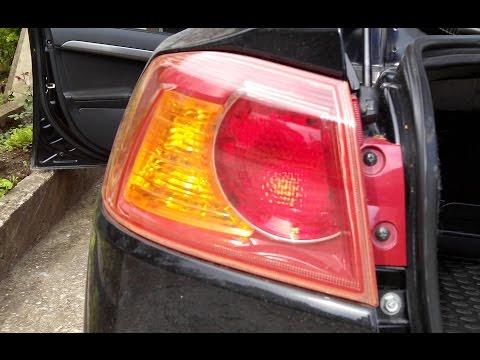 Замена лампы стоп сигнала митсубиси лансер 10