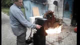 getlinkyoutube.com-Аатоматическая горелка на отработке(мазуте) Бабингтона  собственного изготрвления