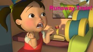 getlinkyoutube.com-Английский язык для малышей - Мяу-Мяу - Сбежавший паровозик (Runaway Train) - учим английский