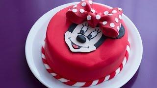 getlinkyoutube.com-Gâteau d'anniversaire Minnie  (décoration en pâte à sucre)
