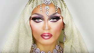 getlinkyoutube.com-DRAMATIC ARABIC MAKEUP TRANSFORMATION FROM MAN TO WOMAN - DRAG QUEEN!