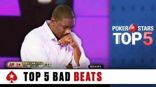 getlinkyoutube.com-Top 5 Worst Poker Bad Beats | PokerStars