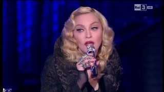 getlinkyoutube.com-Madonna - Che tempo che fa 08/03/2015