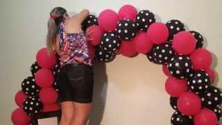 Arco de balões com 2 cores - Balloon arch with two colors