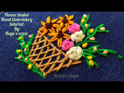 Download Thumbnail For Flower Basket Hand Embroidery Tutorial For