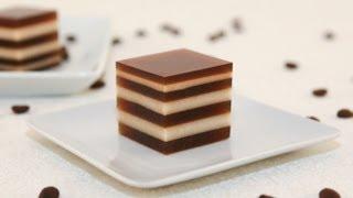 getlinkyoutube.com-Coffee and Cream Agar Jelly (Thach Ca Phe)