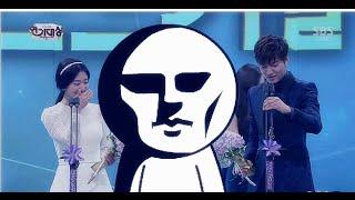 getlinkyoutube.com-Lee Min Ho & Park Shin Hye - Funny moments at 2013 SBS Drama Awards