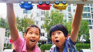 getlinkyoutube.com-DIA TV 키즈 크리에이터 선발대회 응모 영상 ♡ 파워휠 장난감 놀이 오프로드 (과학실험 : 철 성분을 찾아서) Power wheel Car   키즈 크리에이터 마이린TV