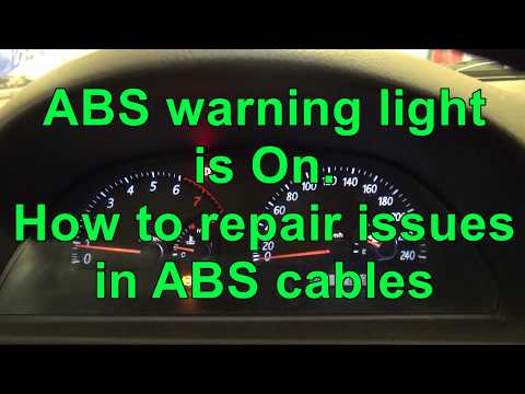 How to reset ABS warning light. ABS warning light is On. Issue in cables.