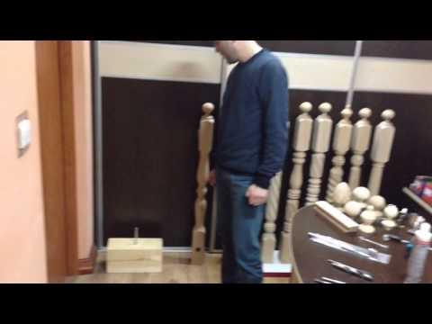 Montaż słupków drewnianych schodowych za pomocą złącza Zipbolt 14.100