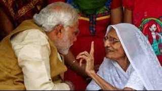 getlinkyoutube.com-Election Results 2014: armed with massive victory, Narendra Modi meets his mother
