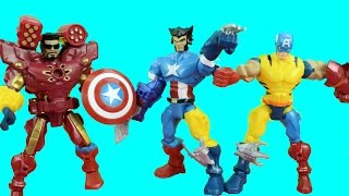 getlinkyoutube.com-Marvel SuperHero Mashers Wolverine, Captain America, Ironman get Mashed-Up Just4fun290