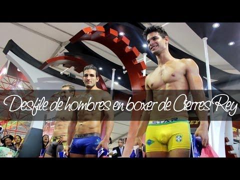 Desfile hombres en boxer de Cierres Rey en el Perú Moda 2014   Unicas.pe