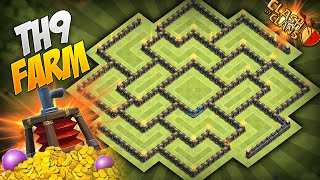 getlinkyoutube.com-Clash of Clans - BEST Townhall 9 (TH9) Farming Base! Circle of Death 4.0! w/ Air Sweeper!