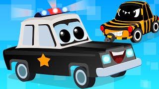 getlinkyoutube.com-Cars Cartoons - Zeek And Friends | Police Car Song | vehicle songs