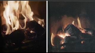 getlinkyoutube.com-Sawdust and Paper Mache Briquette Burn Test