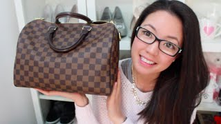 getlinkyoutube.com-Louis Vuitton Speedy 30 (Bandouliere) Review | rosellalee