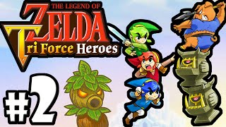 The Legend of Zelda Triforce Heroes PART 2 Gameplay Walkthrough Online Co-Op (Totem Time!) 3DS
