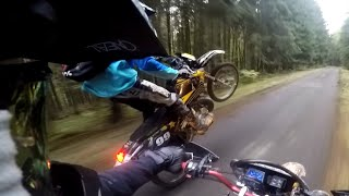 getlinkyoutube.com-YAMAHA DT 125 FOREST RIDE / KTM SXF 250