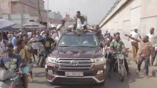 Shatta Wale storms Accra city