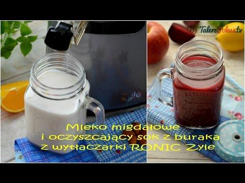Mleko migdałowe i oczyszczający sok z buraka z wytłaczarki RONIC Zyle