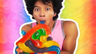 getlinkyoutube.com-DIY GUMMY RAINBOW INTESTINES!!!