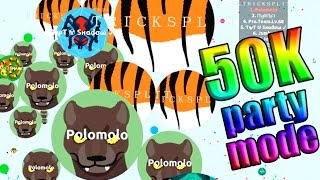 getlinkyoutube.com-TEAM RANDOM en PARTY!! 50.000 Highscore agar.io gameplay