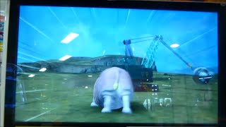 グレートアニマルカイザービッガーB6弾 世界的アイドル カバ千代 VS シシワカ・ザ・ビッガー:ようやく鉄球クレーン車がまともに動きました(涙)