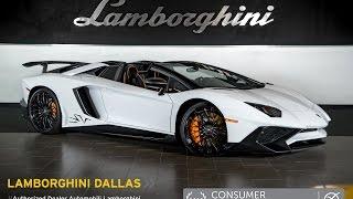 getlinkyoutube.com-2016 Lamborghini Aventador LP 750-4 SV Roadster Bianco Isis LC432