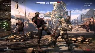 getlinkyoutube.com-Mortal Kombat X Liu Kang vs  Reptile