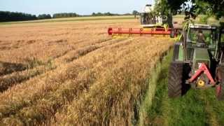getlinkyoutube.com-Claas Lexion 670 TT, Gerste 2013