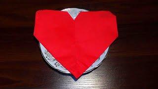 Как красиво сложить салфетки Сердечком