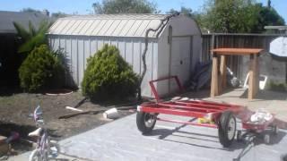 getlinkyoutube.com-Camping Trailer / Harbor Freight trailer. Custom built trailer.