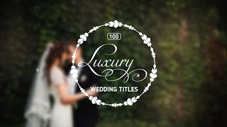 getlinkyoutube.com-100 Luxury Wedding Titles — After Effects project | Videohive template