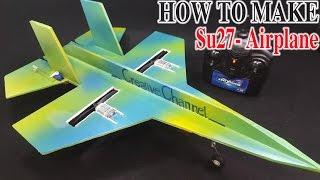 getlinkyoutube.com-How To Make A RC Airplane SU-27 Sukhoi Twin 180 Motor