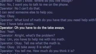 kid call 911 for help with math