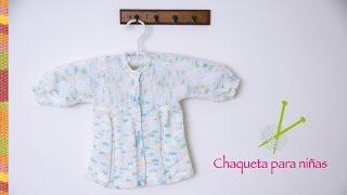 getlinkyoutube.com-Chaqueta o saquito para niñas tejido en dos agujas o palitos