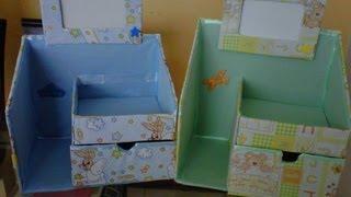 getlinkyoutube.com-Novedades: Organizador hecho de cartón para bebés / ♥